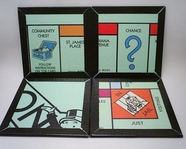 Monopoly Board Game Coaster Set
