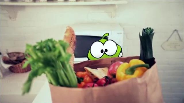 Om Nom Jumped Out from Cut the Rope