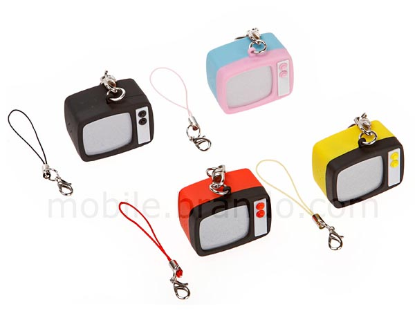 Retro TV Styled Keychain with LED Light and TV Static Sound