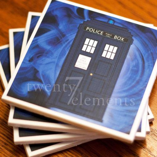 Doctor Who TARDIS Coaster Set