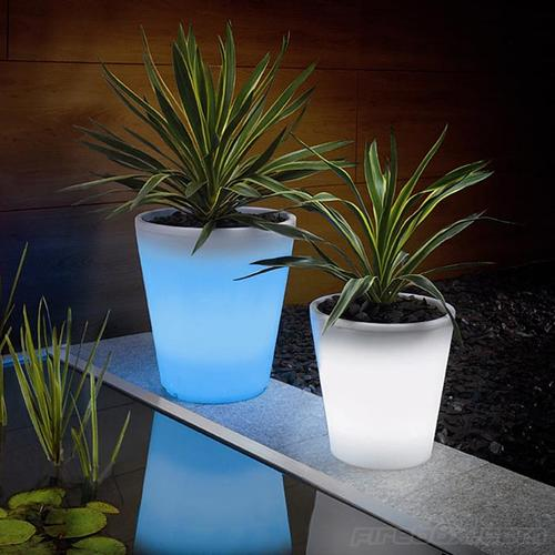 Color Changing Solar Powered Plant Pot