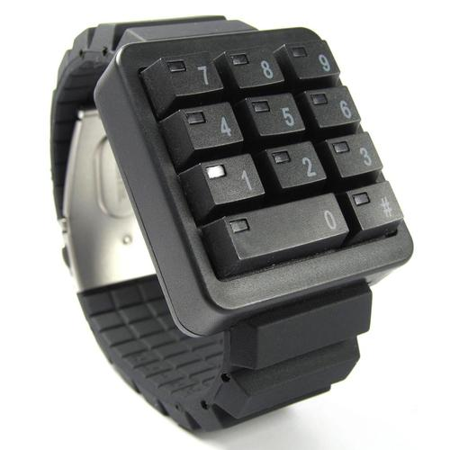 Click Keypad Hidden Time LED Watch