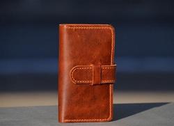 Hand-Stitched iPhone 4 Leather Case with Wallet