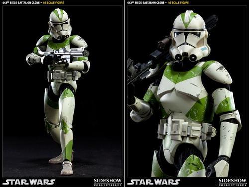 Sideshow 442nd Siege Battalion Clone Trooper Action Figure