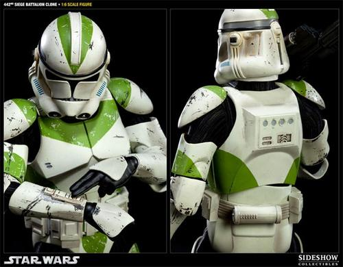 Sideshow 442nd Siege Battalion Clone Trooper Action Figure
