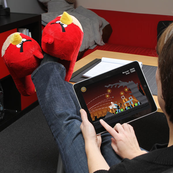 Angry Birds Fuzzy Slippers