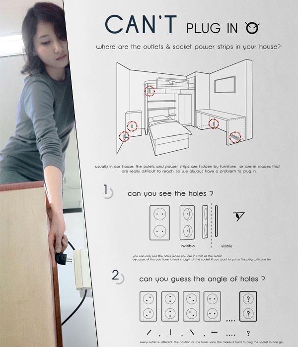 Donut Plug Socket Design Concept Gadgetsin