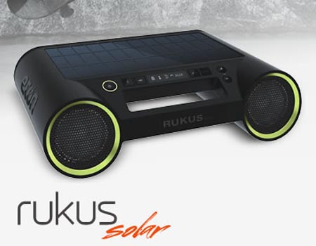 Etón Rukus Portable Wireless Speaker System with Solar Panel