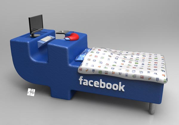 Facebook Themed Bed
