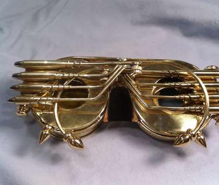 Handmade Steampunk Goggles with Iris Cover and Interchangeable Lenses