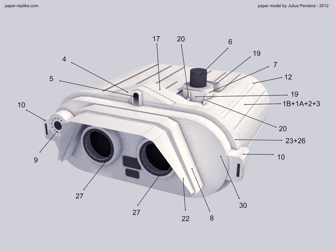Life-Size Star Wars Trooper Binocular Paper Craft