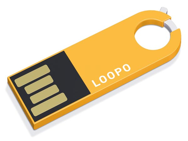 LOOPO USB Flash Drive with A Loop Clasp