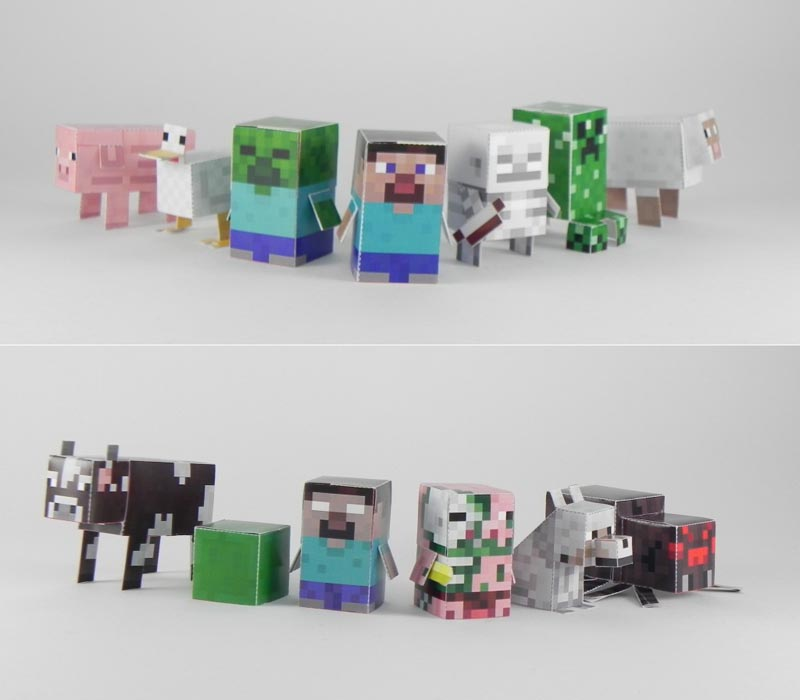 Minecraft Minis Paper Crafts
