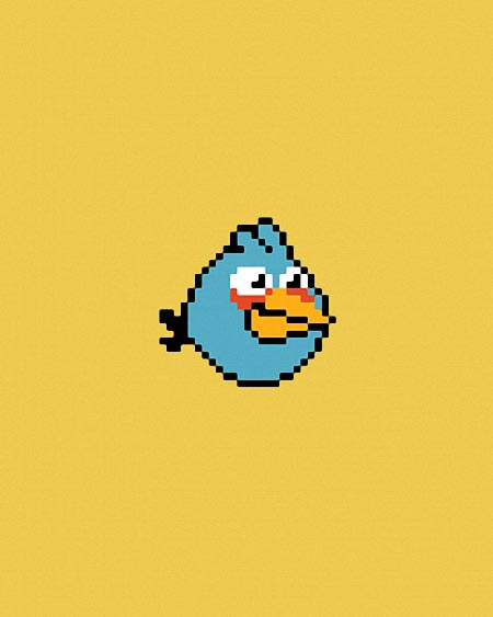 Pixelated Angry Birds