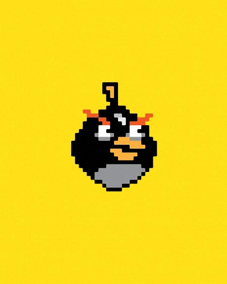 Pixelated Angry Birds