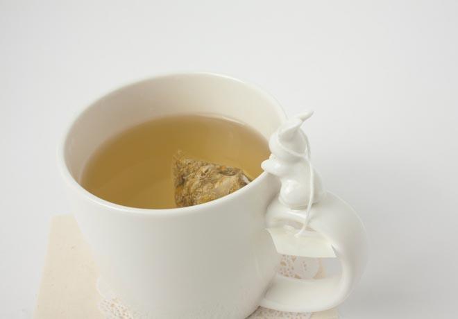 Rabito Mug with Integrated Tea Bag Holder