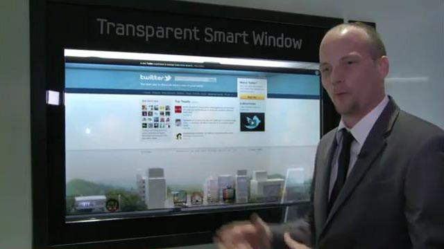 Samsung Transparent Smart Window Made Its Debut at CES 2012