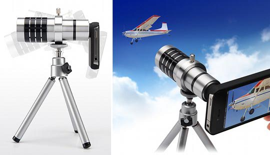 Sanwa x12 Telephoto Zoom Lens for iPhone 4 and 4S