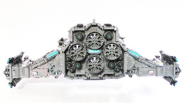StarCraft 2 Hyperion Built with LEGO Bricks