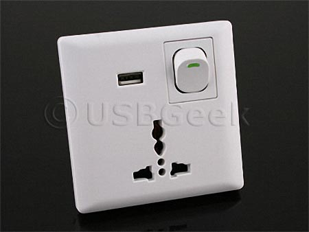 Universal Wall Outlet with USB Port | Gadgetsin