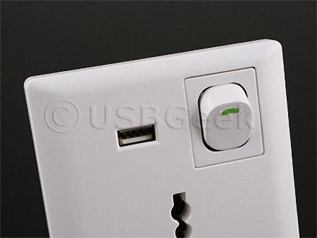 Universal Wall Outlet with USB Port