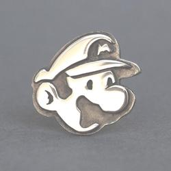 Handmade Mario and Luigi Sterling Silver Cufflinks