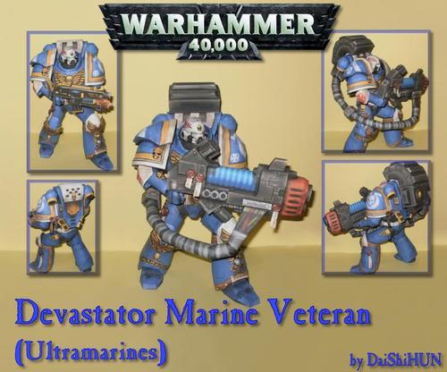Warhammer 40K Devastator Marine Paper Craft