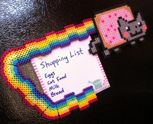Nyan Cat Fridge Magnet Set