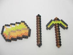 Minecraft Tool and Weapon Fridge Magnet Set