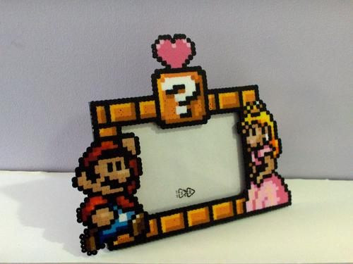 Super Mario and Princess Peach Photo Frame