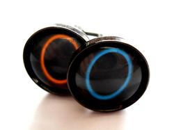 Handmade Portal Themed Cufflinks