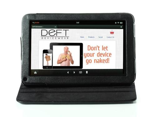 Deft Dante 360 Rotating Leather Kindle Fire Case
