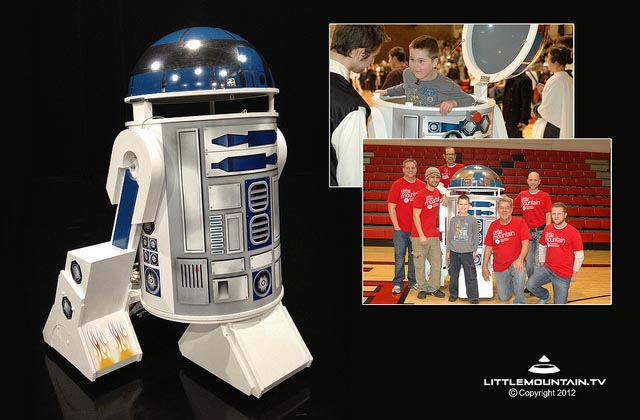 6-Foot-Tall R2-D2 Droid Making the Kid's Dream Come Ture