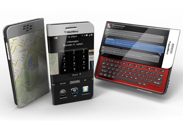 BlackBerry Concept Phone with Wrap Around Screen