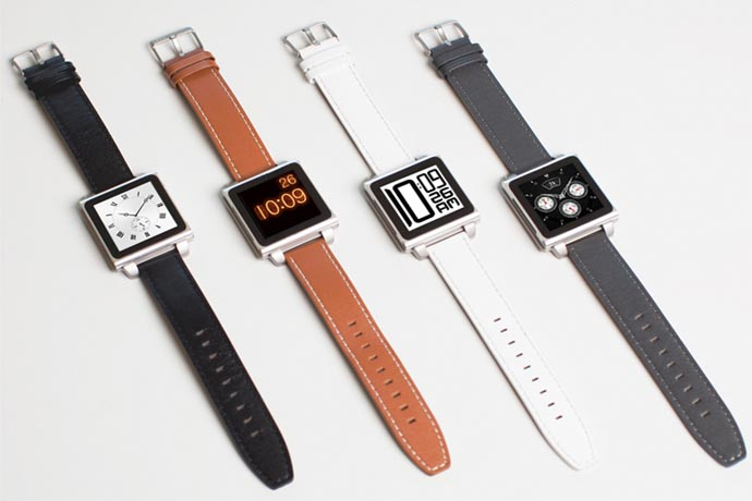HEX Vision Classic Leather Watch Band for iPod Nano 6G