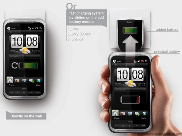 HTC Autonome Concept Phone with a Handy Charging Way