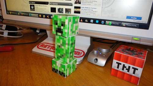 Make Your Own Minecraft Paper Crafts