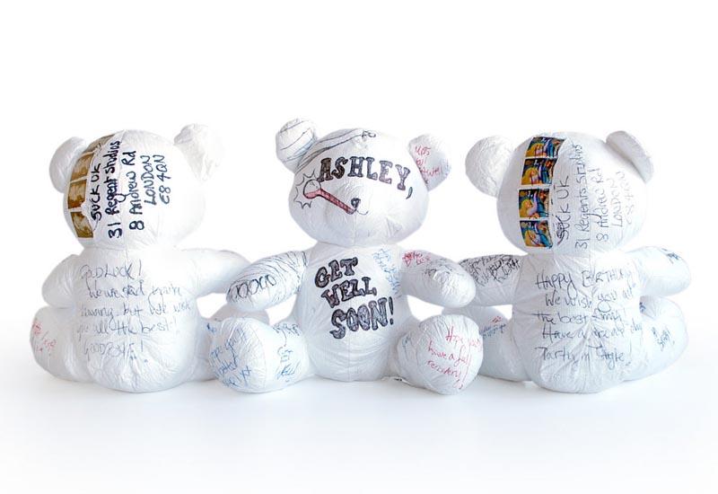 Paper Teddy Stuffed Toy
