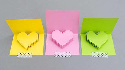 Pixelated Valentines Card