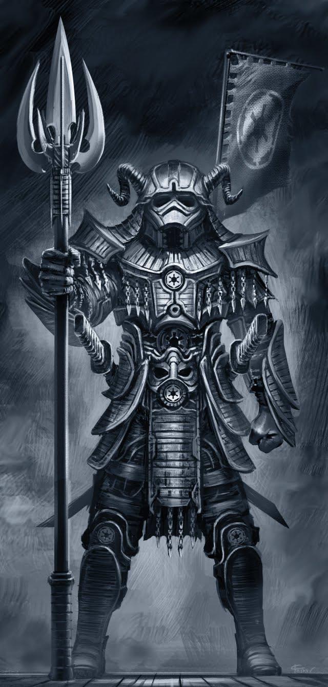 Samurai-Style Star Wars Characters
