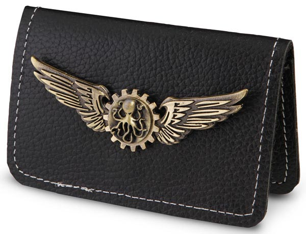 Steampunk Bi-Fold Leather Wallet