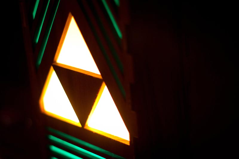 The Legend of Zelda Triforce Table Lamp