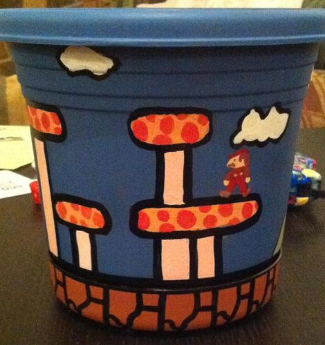 Super Mario Themed Flower Pot