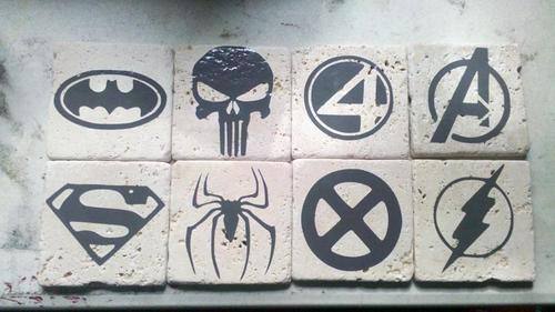 Handmade Superhero Coaster Set