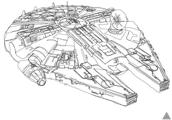 Line Art Illustration : Awesome one line drawing star wars illustrations gadgetsin