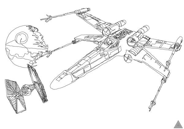 Awesome One-line-drawing Star Wars Illustrations