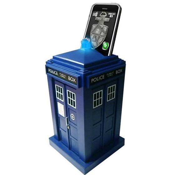 Doctor Who TARDIS Smart Safe Guarded by iPhone, iPod Touch or Android Phone