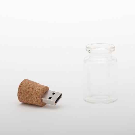 Empty Bottle with Cork USB Flash Drive