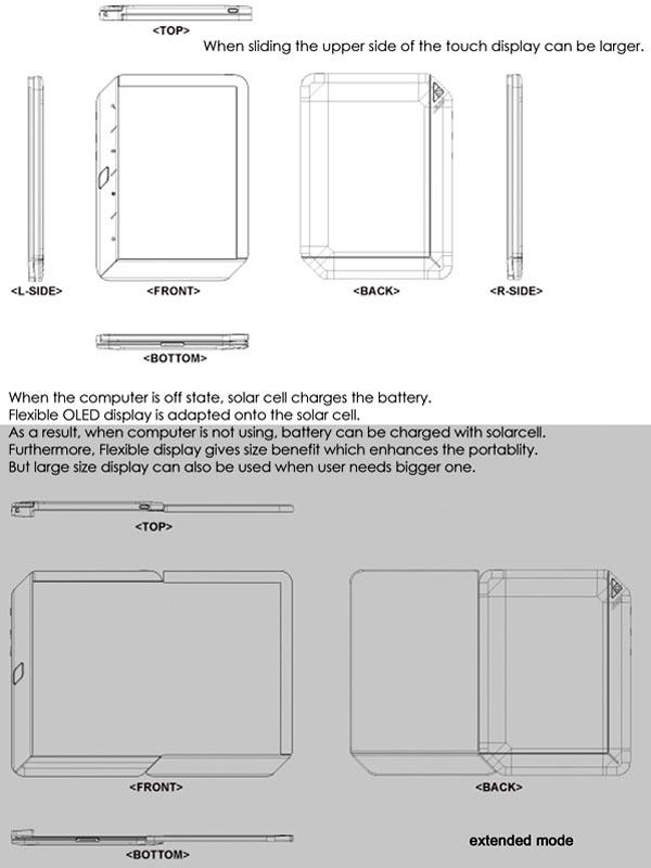 Extending Note Concept Tablet