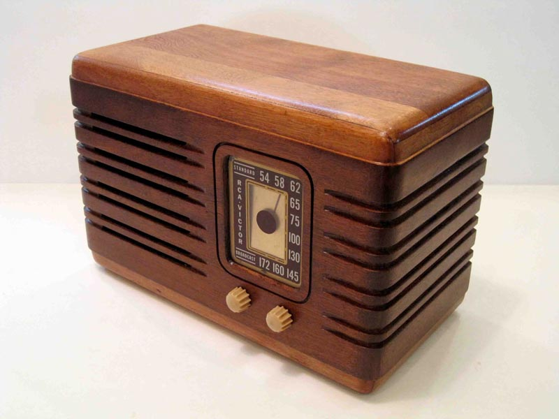 Handmade Vintage Speaker System With Am Fm Radio